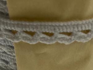 Памучна дантела, 1 см