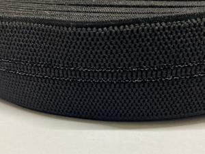 Декоративен ластик, черен, 4.5 см широк