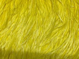 Марибу, естествени пера на лента, жълти