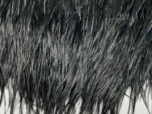 Марибу, естествени пера на лента, черни