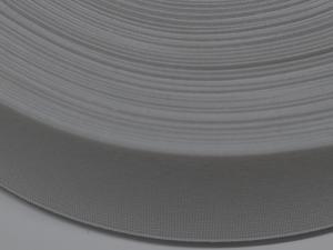 Плетен ластик стегнат, бял, 3 см