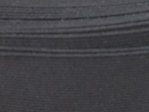 Стегнат ластик, черен, 3 cм