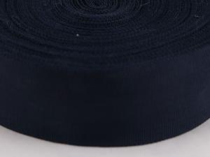 Рипсена  лента, тъмно синя, 5 cм