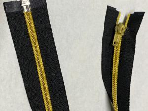 Метализирани ципове на YKK,80 CM,Златни