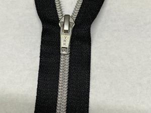 Метализирани ципове на YKK,16 CM,сребърни