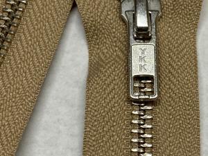 YKK бежов метален цип никелирани зъби 65 сантиметра