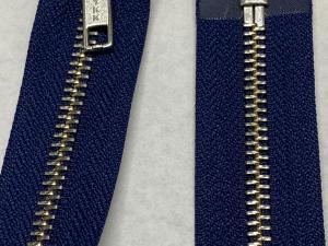 YKK Тъмно синьо метален цип никелирани зъби 75 сантиметра