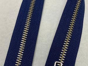 YKK Тъмно синьо метален цип никелирани зъби 85 сантиметра