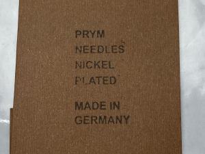ръчни игли за кожа,сарашки игли PRYM  Germany