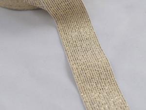Декоративен ластик, златен, ширина 3 см