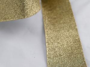 Декоративен ластик, златен, ширина 6 см