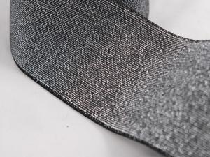 Декоративен ластик, сребърен, ширина 7 см